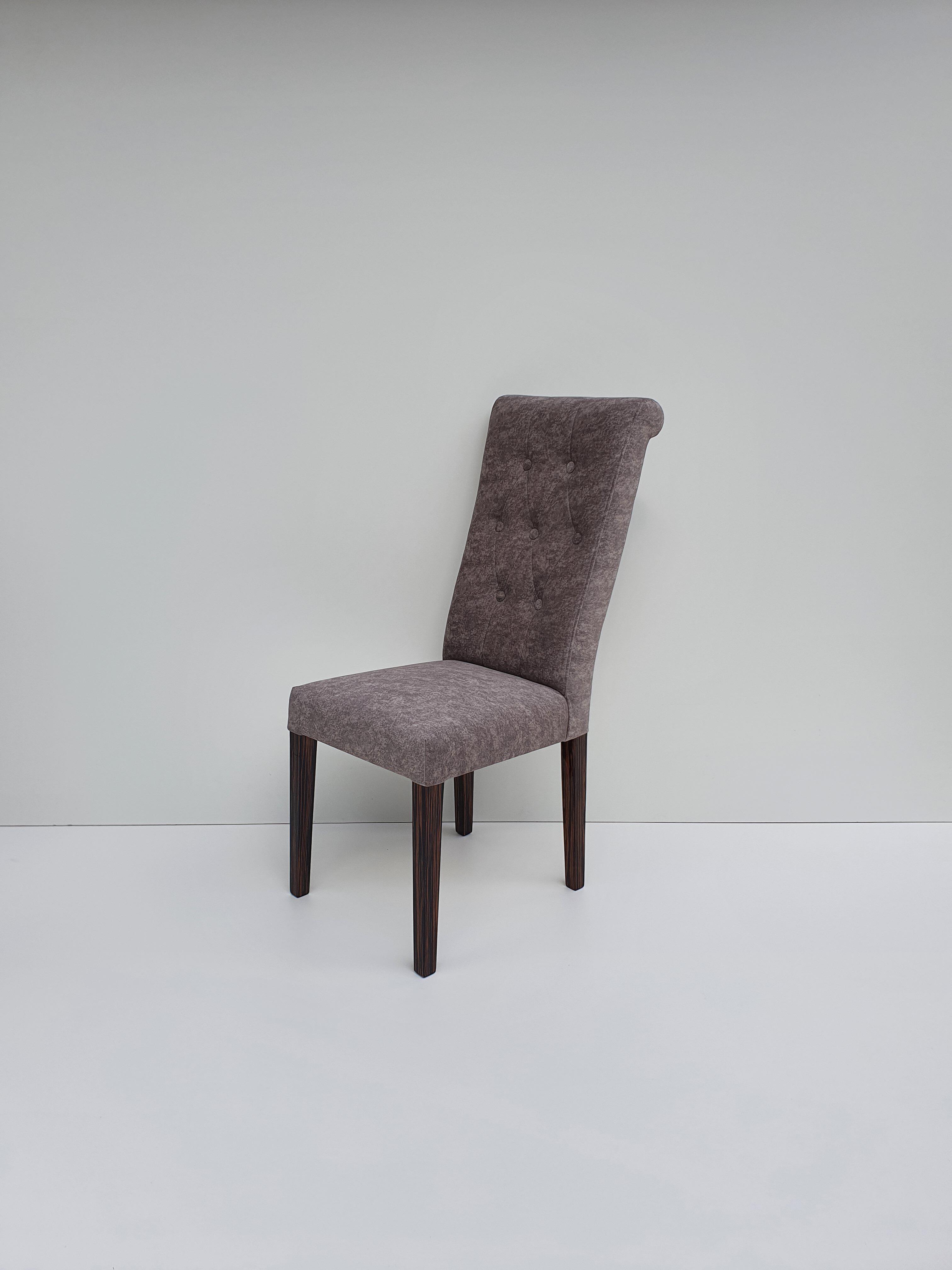 Krzesło Infiniti nogi hebanowe na wysoki połysk
