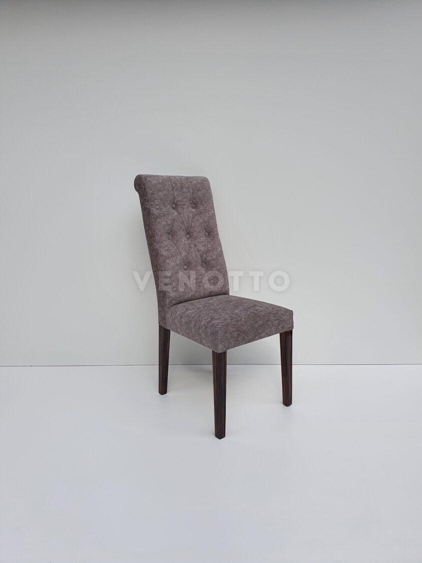 Krzesło tapicerowane Infiniti z nogami z hebanu