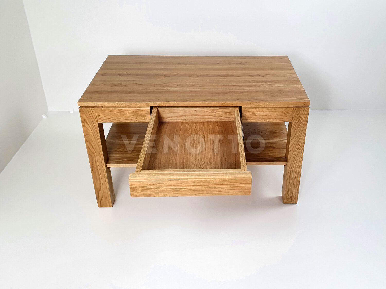 Stolik kawowy dębowy z szufladą