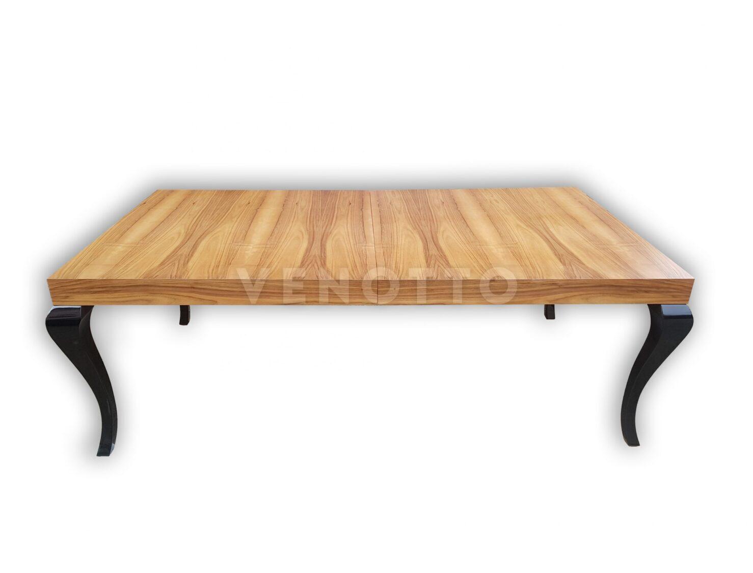 Stół klasyczny, nogi Ludwikowskie na czarny połysk